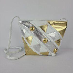 Vintage Jacolini Leather White & Gold Purse